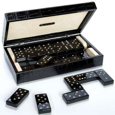 Leather Domino Box