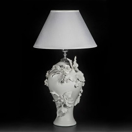 Lamp with Flowers Decor