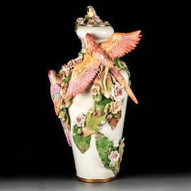 Kyoto Vase Parrots and Flowers