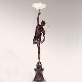 Mercurio volante con lampada