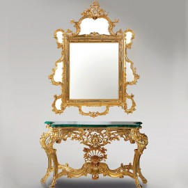 Console with malachite and Mirror