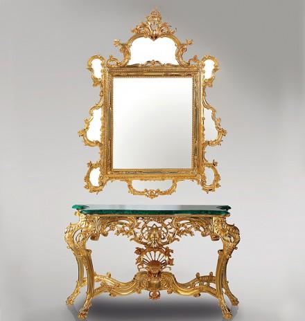 Console Malachite & Mirror
