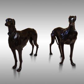 Pair of greyhounds