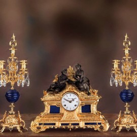 Set clock and two candelabra LUIGI FILIPPO – NAPOLEONE III   STYLE