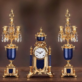 Set clock and two candelabra EMPIRE STYLE