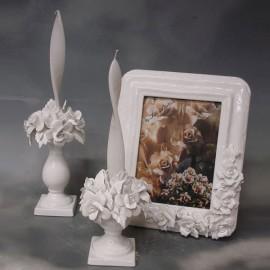 Rose candle holder