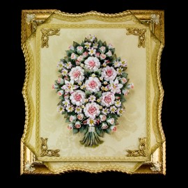 Roses in shaped frame