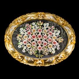 Rose in cornice ovale