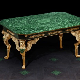 Table with Malachite