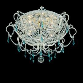 Light Blue Crystals Ceiling Lights