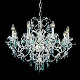 Light Blue Crystals Chandelier